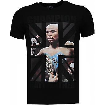 Mayweather-rhinestone T-shirt-svart