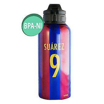 FC Barcelona Official Suarez 9 Aluminium Water Bottle