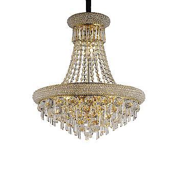 Diyas Alexandra hanger 9 licht Frans goud/kristal