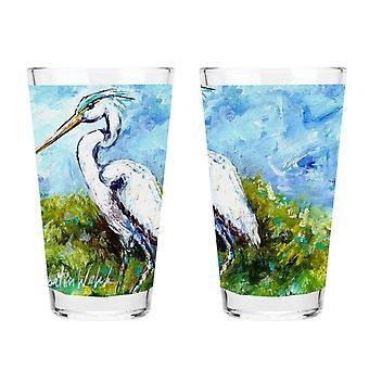 Carolines Treasures MW1175PINT Blue Heron 16 Unssi sekoitus lasia
