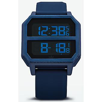 Adidas archive r2 Digital Men's Watch with Silicone Bracelet Z16605-00