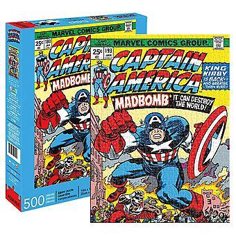 Capitán América Loco Bomba Comic Cover 500 Pieza Rompecabezas