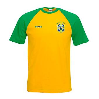 Camiseta de futebol estilo Brasil