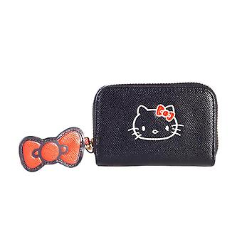 Hello Kitty Zip Around Black Coin Purse