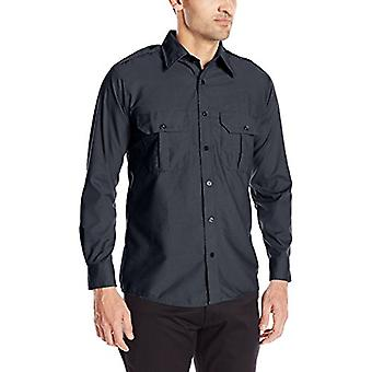 Horace Small Men's Professional Long Sleeve Security Shirt, Dark Navy, X-Small