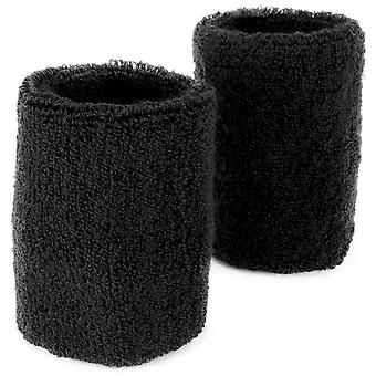 Wrist Sweatbands 2-pack, Black