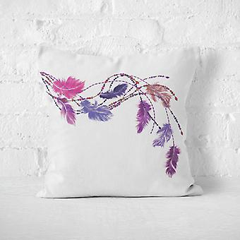 Meesoz Coussin - Pink & Purple Feathers