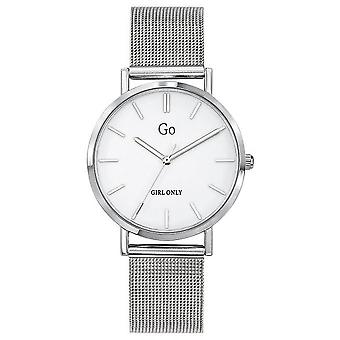 Watch Go Girl Only 695255 - Silver Steel Milanese White Dial White Woman