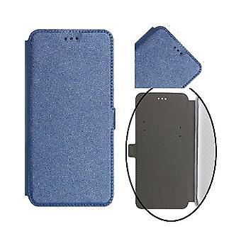 Samsung Galaxy J6 (2018) Smart Pocket Mobilplånbok - Marinblå
