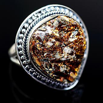 Kæmpe grov Astrophyllite ring størrelse 9 (925 sterling sølv)-håndlavede Boho vintage smykker RING980976