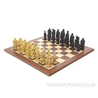 Slag van Culloden mahonie schaakbord
