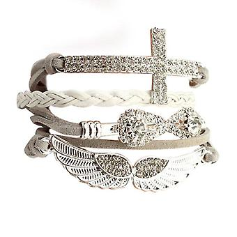 Angel Wing wrap kristal armband