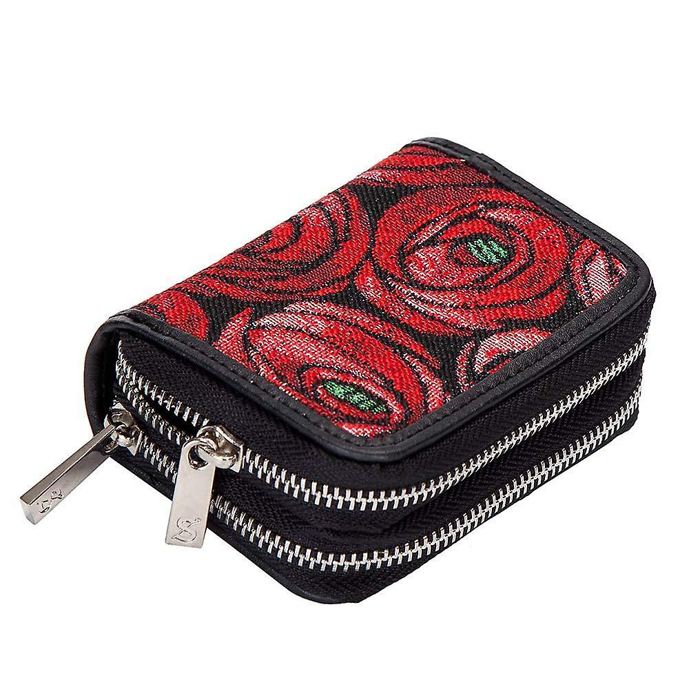 Mackintosh - rose and teardrop double-zip money purse by signare tapestry / dzip-rmtd