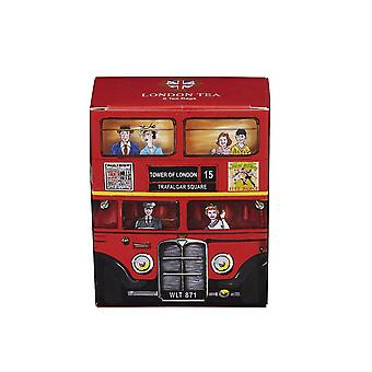 Red london bus london tea 6 teabag carton