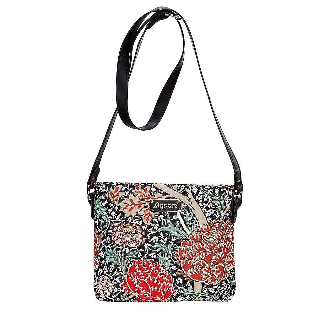William morris - the cray cross body bag by signare tapestry / xb02-cray
