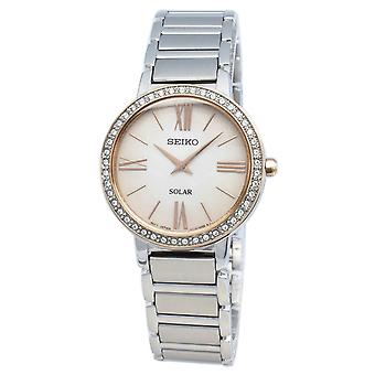 Seiko Conceptual SUP432P SUP432P1 SUP432 Diamond Accents Solar Women's Watch