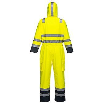 sUw - Bizflame regen Specialist Hi-Vis Multi beschermende veiligheid Coverall
