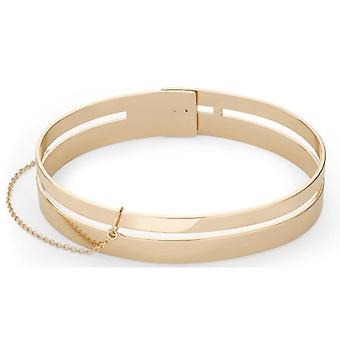 Rosefield JPABR-J044 Bracelet - Iggy Sleeve Collection with Double Gold Gold Gold Bar Laiton Adjustable Women
