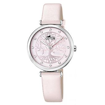 Lotus horloge L18706-2-BLISS Bo tier staal zilver lederen armband roze Cadran Sertie vrouwen
