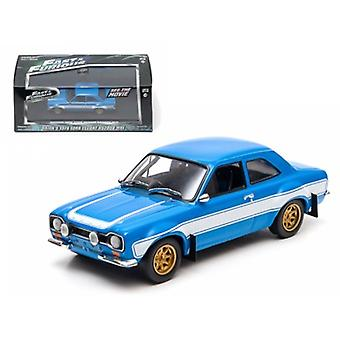 Brian-apos;s 1974 Ford Escort RS2000 MK 1 -The Fast and The FuriousMD Movie (2013) 1/43 Diecast Model Car par Greenlight