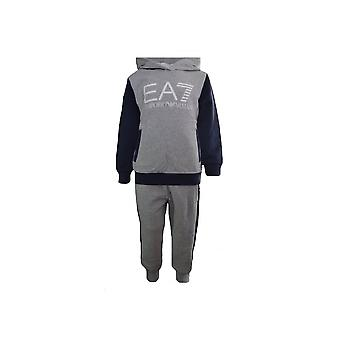 EA7 Boys EA7 Kids Grey And Navy Tracksuit