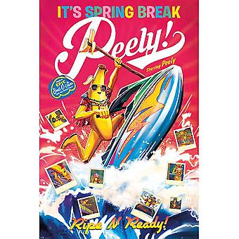 Fortnite Spring Break Peely Poster