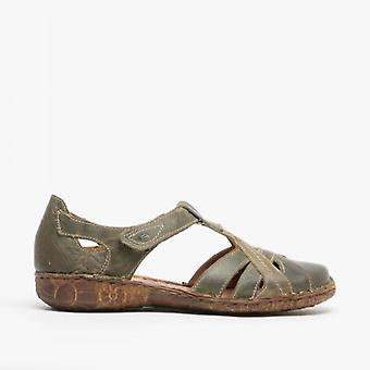 Josef Seibel Rosalie 29 Ladies Leather Casual Shoes Olive