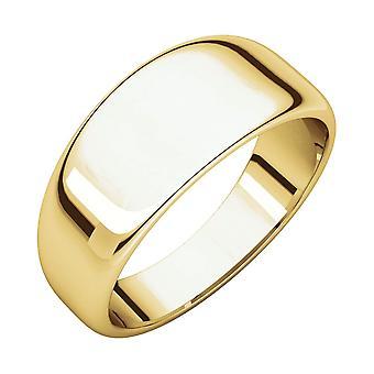 14 Καράτια Κίτρινο χρυσό 8 mm μισό γύρο με κωνικούς συγκρότημα Κοσμήματα Ring δώρα για τις γυναίκες-δακτύλιο μέγεθος: 6 έως 8,5