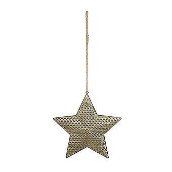lys & levende dekorative anheng 36x36x3.5cm stjerne antikk gull