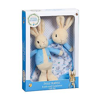 Beatrix Potter Peter Rabbit Rattle & Comfort Blanket Set