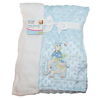 Baby Gift Set First Steps Mink Bubble Reversible Blanket and Comforter