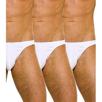 Prelude 100% cotton brief pack of 3 white