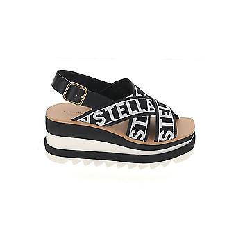 Stella Mccartney 800129n0078k105 Dames's Black Faux Leather Wedges