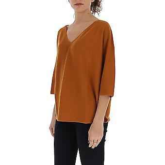 Gentry Portofino D608cog0123 Women's Brown Cotton Sweater
