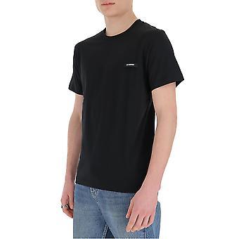Les Hommes Lit216700p9000 Men's Black Cotton T-shirt