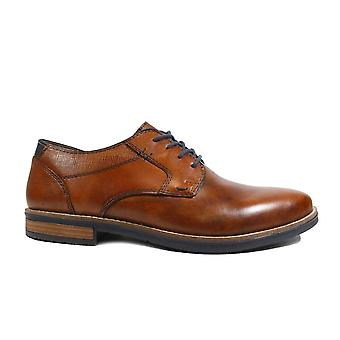 Rieker 13521-24 Brown Leather Mens Lace Up Shoes