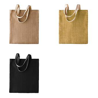 Kimood Womens/Ladies Patterned Jute Bag (Pack of 2)