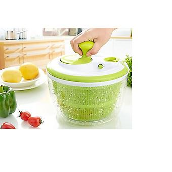 Retractable Pull Salad Spinner  Transparent And Green