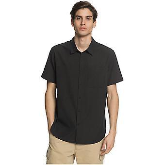 Quiksilver Tech Tides Short Sleeve Shirt in Black
