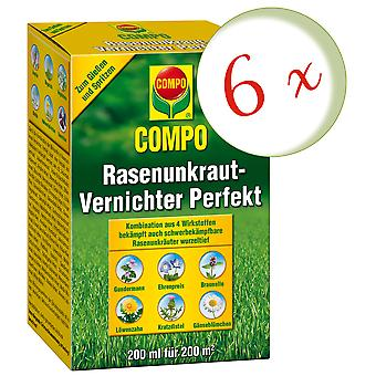 Sparset: 6 x COMPO Lawn Weed Killer Perfect, 200 ml