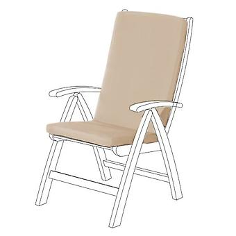 Gardenista Garden High Back Chair Seat Pad ? Cojín de asiento sin aire libre ( Indoor Seating Cushion) Material resistente al agua ? Suave Durable y Cómodo (Piedra)