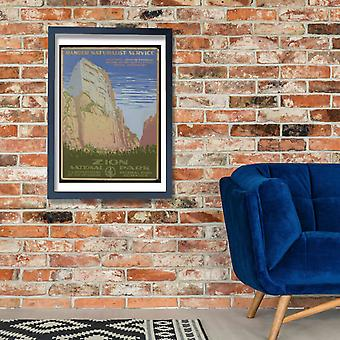 Zion National Park Poster Print Giclee