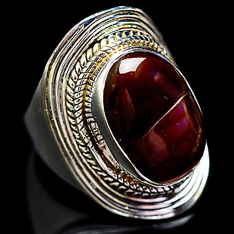 Mexican Fire Agate Ring Size 6 (925 Sterling Silver)  - Handmade Boho Vintage Jewelry RING2682
