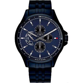 Tommy Hilfiger 1791618 Mens Blue IP Bracelet Wristwatch