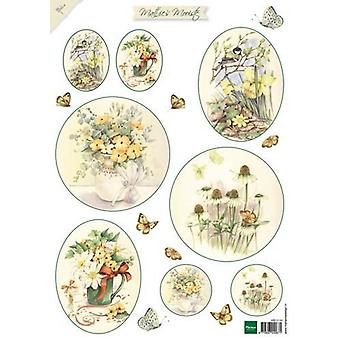 Marianne Design 3D Decoupage sheet Mattie Beautiful Flowers 2 MB0149
