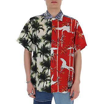 Buscemi Bms20238089 Men's Multicolor Cotton Shirt