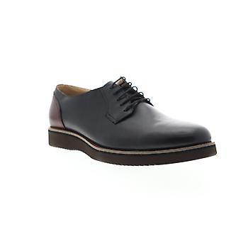 English Laundry Romeo  Mens Black Leather Lace Up Casual Oxfords Shoes