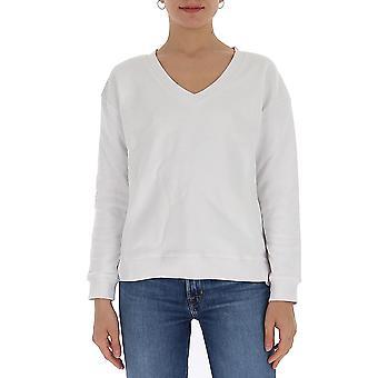 Semi-couture Y0sj52a01 Women's White Cotton Sweater