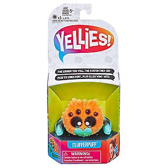 Yellies! Flufferpuff Spider Stuffed Animals/Pets That React to Your Voice