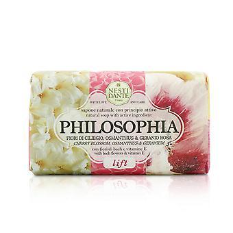 Filosófica sabão natural eleva flor de cerejeira, osmanthus & gerânio com flores de bach e vitamina e 208660 250g/8.8oz